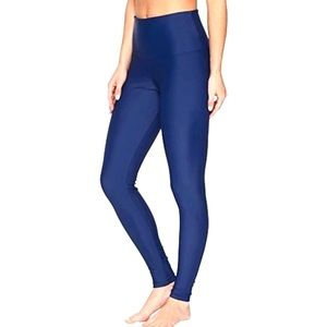 Onzie Hot Yoga High Rise Legging ~ Blue Metallic
